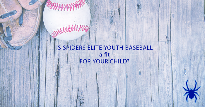 Is Spiders Elite Youth Baseball a Fit for Your Child?