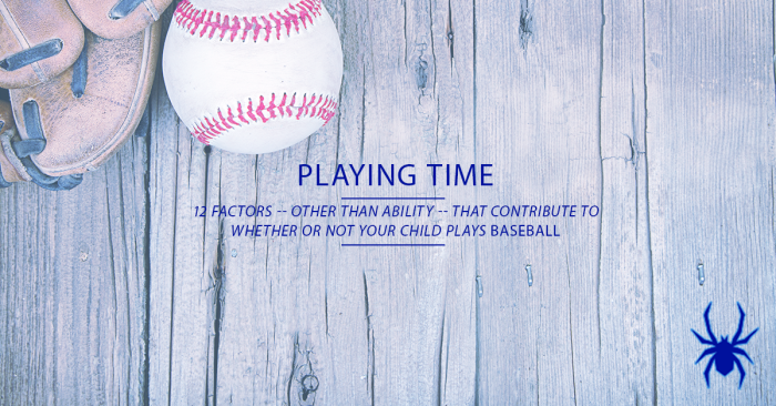 Tournament Baseball Playing Time