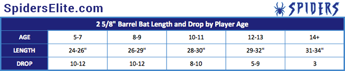Baseball Bat Drop Weight Chart Little League