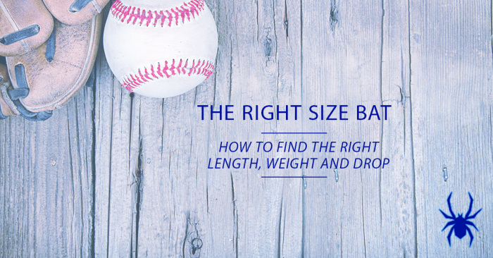 Right Size Baseball Bat Length Weight Drop
