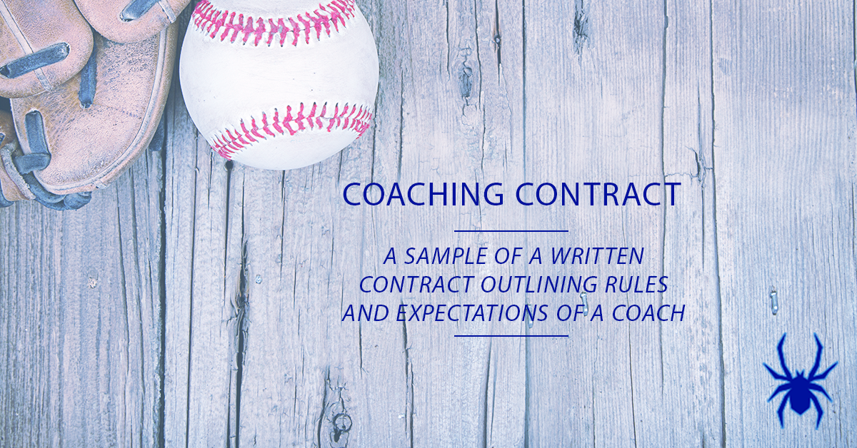 youth baseball coach contract  sample