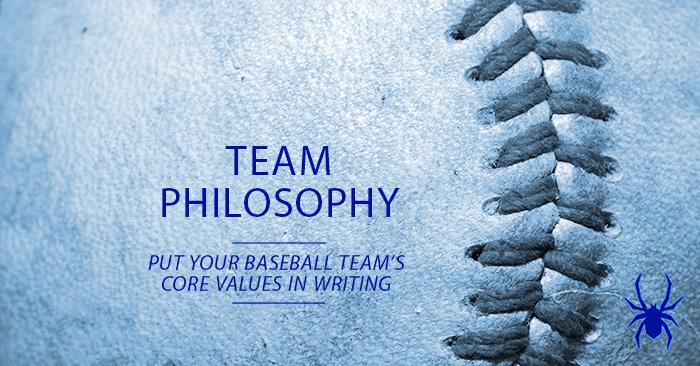 Youth Baseball Team Philosophy