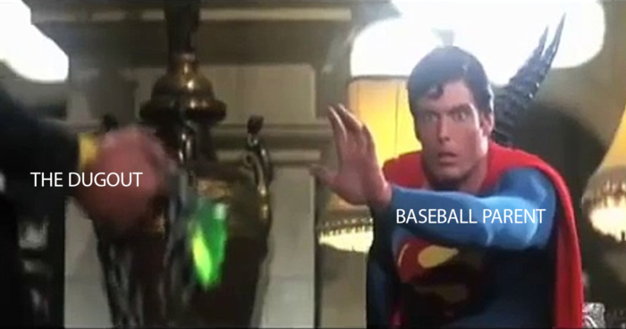 Superman Kryptonite Baseball Parent Dugout